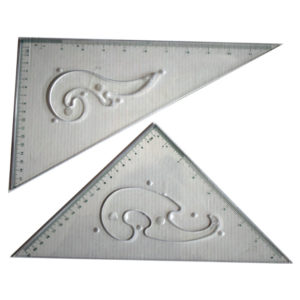 300 mm set square with french curves