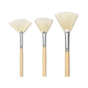 Brush white bristle fan