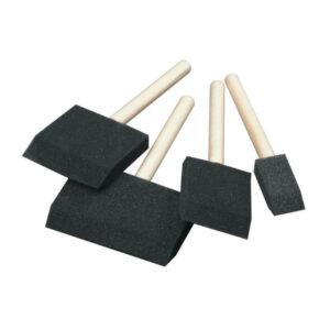 Flat foam brush