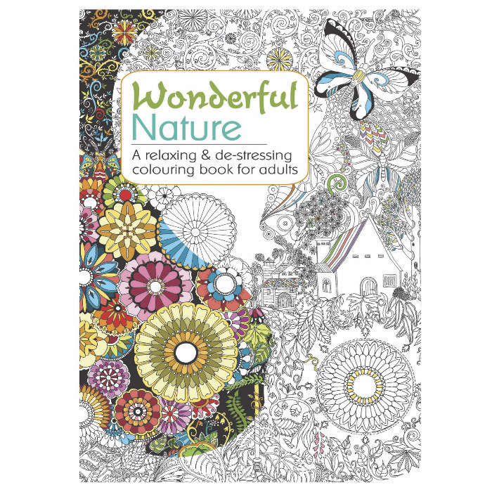 Rolfes Wonderful Nature Colouring Book For Stress Relief ...
